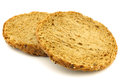 Two Dutch traditional Waldkorn wholemeal rusks Stock Photo