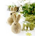 Two easter rabbits Royalty Free Stock Photo