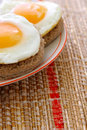 Two eggs sunny side up Royalty Free Stock Photos