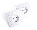 Two Electrical connector isolated on white background Royalty Free Stock Photo