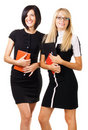 Two elegant businesswomen Stock Photos