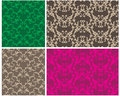 Two elegant seamless patterns Royalty Free Stock Photography