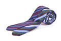 Two elegant silk male ties (necktie) on white Stock Photos