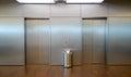 Two elevator doors Royalty Free Stock Photo