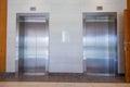 Two elevator doors closed