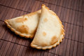 Two empanadas traditional argentinian or meat pie Stock Images
