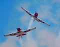 Two Eqstra Harvards break formation Royalty Free Stock Photo