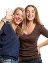 Two European Women Royalty Free Stock Photography