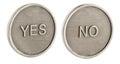 Two faces of a coin Stock Photos