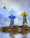 Two Fairies Royalty Free Stock Image