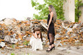 Two fashion girls Royalty Free Stock Photo