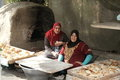 Two female bakers in Cairo Stock Photos
