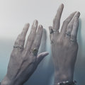 Two female hands with rings Royalty Free Stock Photo