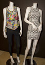 Two Female Mannequin Displays Royalty Free Stock Photos