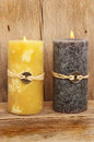 Two Feng shui candles Royalty Free Stock Photos