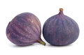 Two figs isolated on white Stock Images