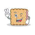 Two finger biscuit cartoon character style