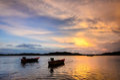Two Fishing Boats Royalty Free Stock Photo