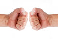 Two fists Royalty Free Stock Photo