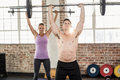 Two fit people working out Royalty Free Stock Photo
