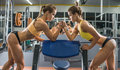 Two fitness woman Royalty Free Stock Photo