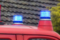 Two flashing blue lights Royalty Free Stock Photo