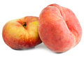Two flat peach on a white background Stock Images