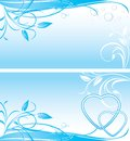 Two floral backgrounds for banner Royalty Free Stock Photography