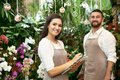 Two florists working Royalty Free Stock Photo