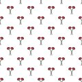Two flowers on grave pattern seamless