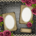 Two frames on vintage background Royalty Free Stock Photo