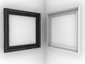 Two frames white wall Royalty Free Stock Images