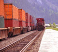 Two freight trains. Stock Photos