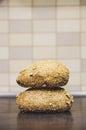 Two fresh buns Royalty Free Stock Photo