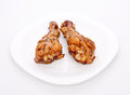 Two Fried Chicken Legs Royalty Free Stock Photo