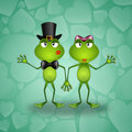 Two frog in love illustration of for valentine s day Stock Image