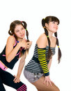Two fun teen girls Royalty Free Stock Image