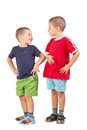 Two funny brothers Stock Images