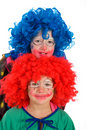 Two funny little clowns Royalty Free Stock Image