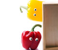 Two funny pepper Royalty Free Stock Images
