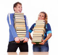 Two funny students Stock Images