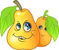 Two funny tasty pears Royalty Free Stock Photo