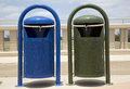 Two garbage bins a background Royalty Free Stock Image
