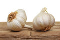 Two garlic bulbs Stock Photos