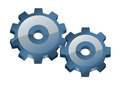 Two gears. Royalty Free Stock Images