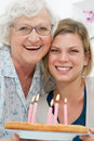 Two generation family celebration Royalty Free Stock Photo