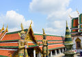 TWO GIANTS IN WAT PHRA KAEW Royalty Free Stock Photo