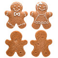 Two gingerbread man Royalty Free Stock Photo