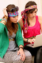 Two Girl-Friends Royalty Free Stock Photos