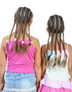 Two girl with pigtails. Stock Photography